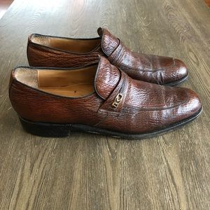 Vintage David's Men Size 11.5A Shark Skin Shoes